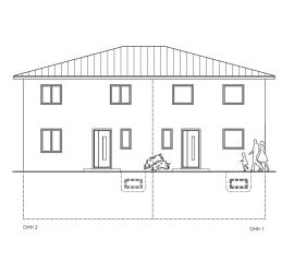 Stadthaus als Doppelhaus