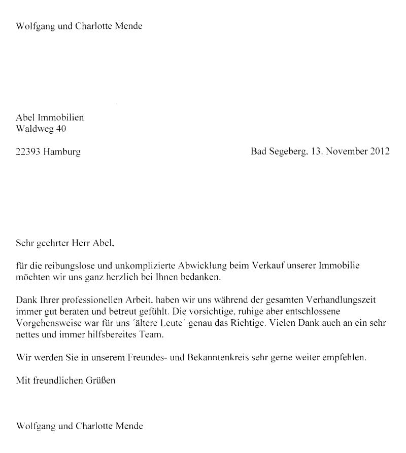 Abel Immobilien - Erfahrungen, Bewertungen und Referenzen