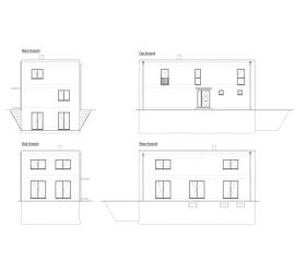 Nord, Ost, Süd, West - Ansichten Bauhausvilla