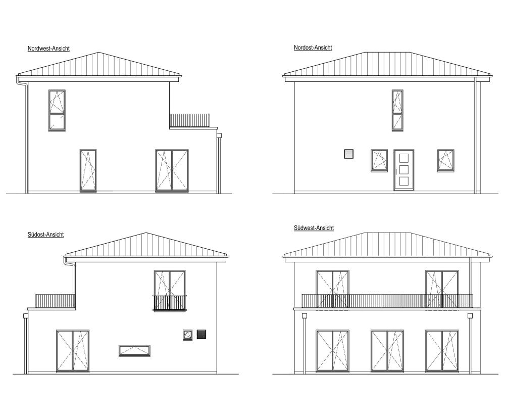 zweigeschossiges Einzelhaus